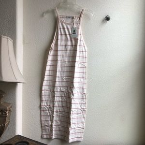 Obey Worldwide Small S Striped Pink Dress NWT New